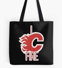 """I See Fire """"C"""" of Red - white variant Tote Bag"""