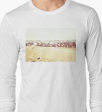 Venice Beach, palm trees, vintage, oceanside, people,  beach photography, California photography, California Wall Art Long Sleeve T-Shirt