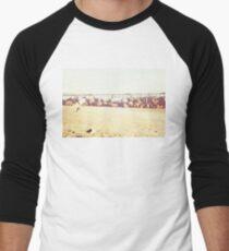 Venice Beach, palm trees, vintage, oceanside, people,  beach photography, California photography, California Wall Art Men's Baseball ¾ T-Shirt