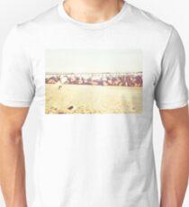 Venice Beach, palm trees, vintage, oceanside, people,  beach photography, California photography, California Wall Art Unisex T-Shirt