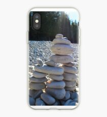 Cairn #2.  Because Andy Goldsworthy rocks (see what I did there?) iPhone Case