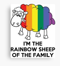 I'm The Rainbow Sheep Of The Family T-Shirt Canvas Print