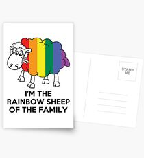 I'm The Rainbow Sheep Of The Family T-Shirt Postcards