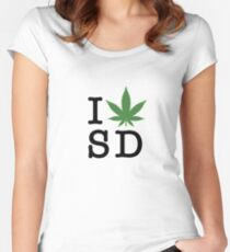 I [weed] San Diego Women's Fitted Scoop T-Shirt