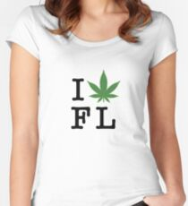 I [weed] Florida Women's Fitted Scoop T-Shirt