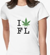 I [weed] Florida Women's Fitted T-Shirt