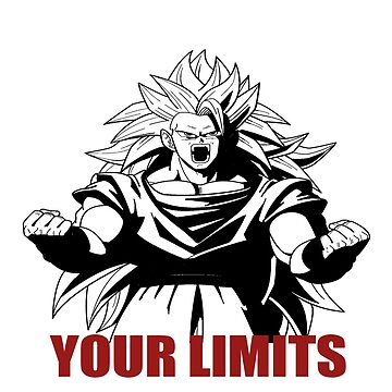 "Goku ""Push Beyond Your Limits"" White/Red Letter by mugenjyaj"
