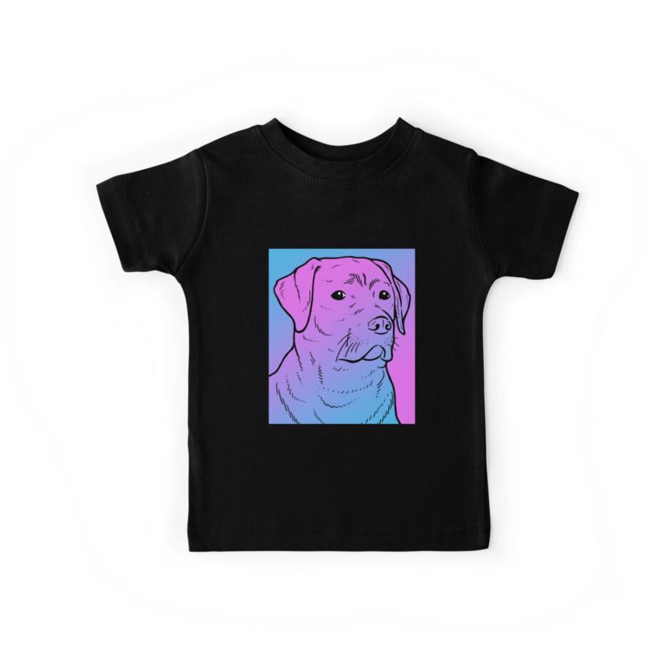 «Vaporwave Labrador Estético Pastel Goth Dog» de dinosareforever
