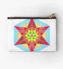Abstract Star Design with Native American Hope Symbol Studio Pouch