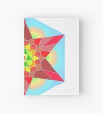 Abstract Star Design with Native American Hope Symbol Hardcover Journal