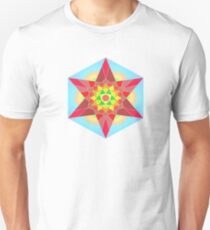 Abstract Star Design with Native American Hope Symbol Unisex T-Shirt