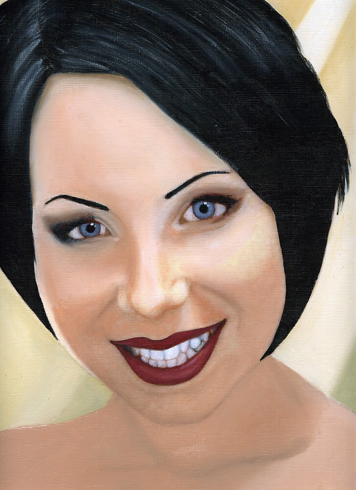 Oil painting of my mate Kate by stutheartist