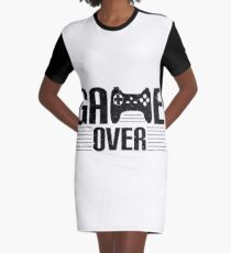 GAME OVER Graphic T-Shirt Dress