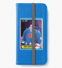 Quebec Nordiques Joe Sakic Hockey Card Vintage iPhone Wallet/Case/Skin