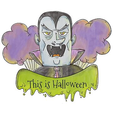 Evil Blue Dracula Character for Halloween by tato69