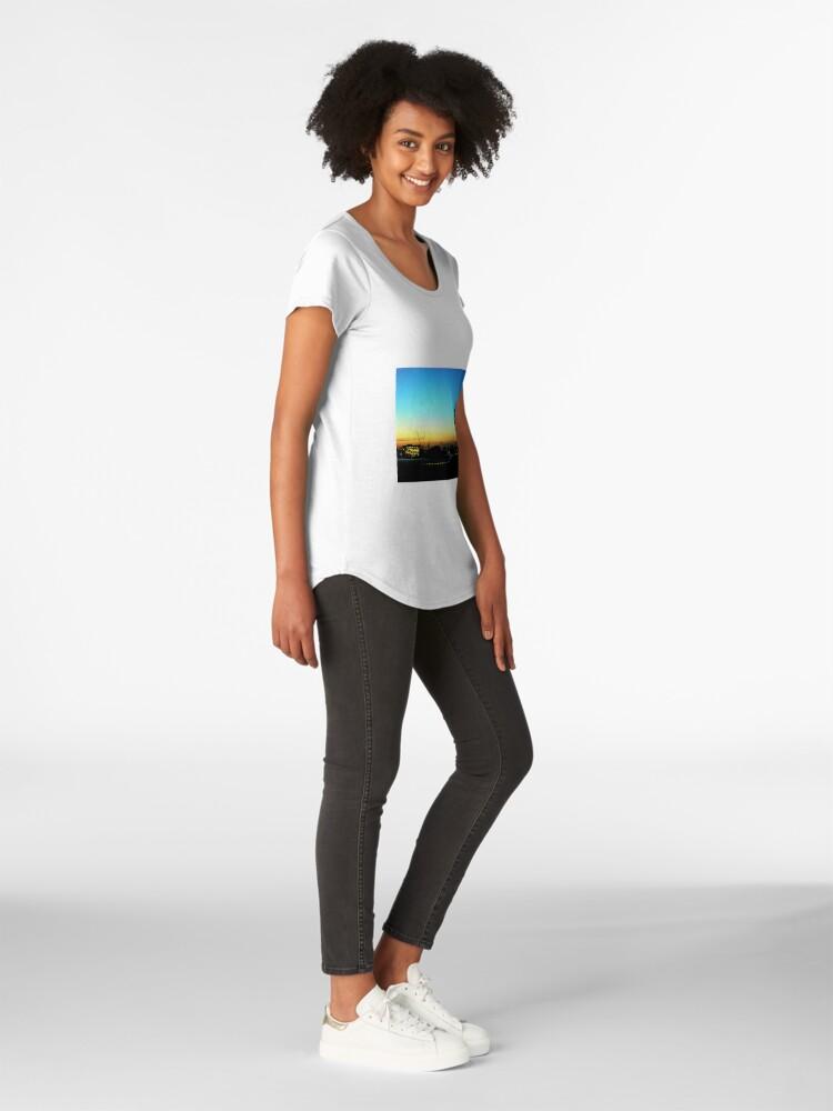 Alternative Ansicht von Stadtbild Premium Rundhals-Shirt