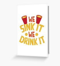 Beerpong Greeting Card