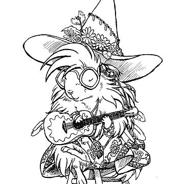 Hippie Guinea Pig Witch by pawlove