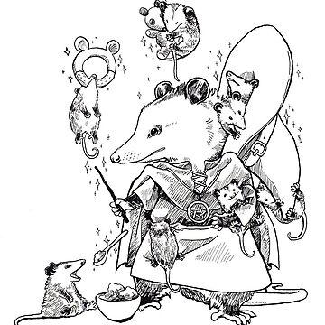Nanny Opossum Witch by pawlove