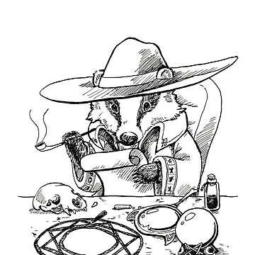 Detective Badger Witch by pawlove