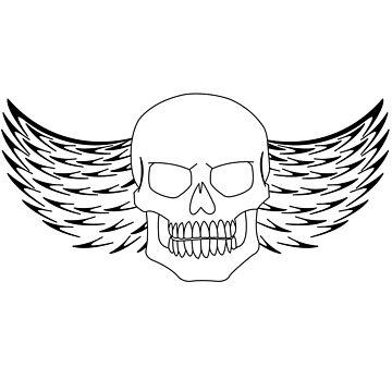 Flying Skull Skulls with Wings by chriswilson111