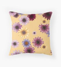 Multicolored natural flowers 15 Throw Pillow