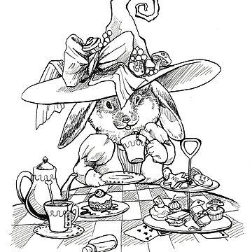 Wonderland Bunny Witch by pawlove