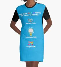 Path of the Rainbow Warrior - 3 Steps Graphic T-Shirt Dress