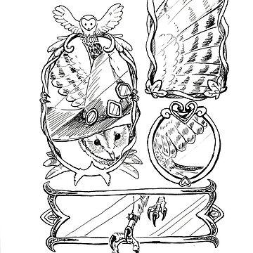 Owl Mirror Witch by pawlove