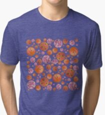 Pink Petri Dish Polka Dot Tri-blend T-Shirt