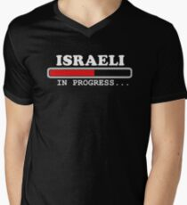 5670e0cd6 israeli in Progress Gift t-shirt, loading funny Sarcastic tee Men's V-Neck