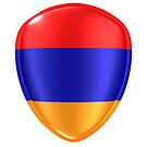 3d rendering of an Armenia flag icon. by erllre74