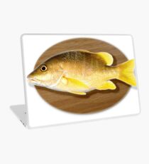 Digitally generated image of a mounted fish trophy on a wooden plaque  Laptop Skin