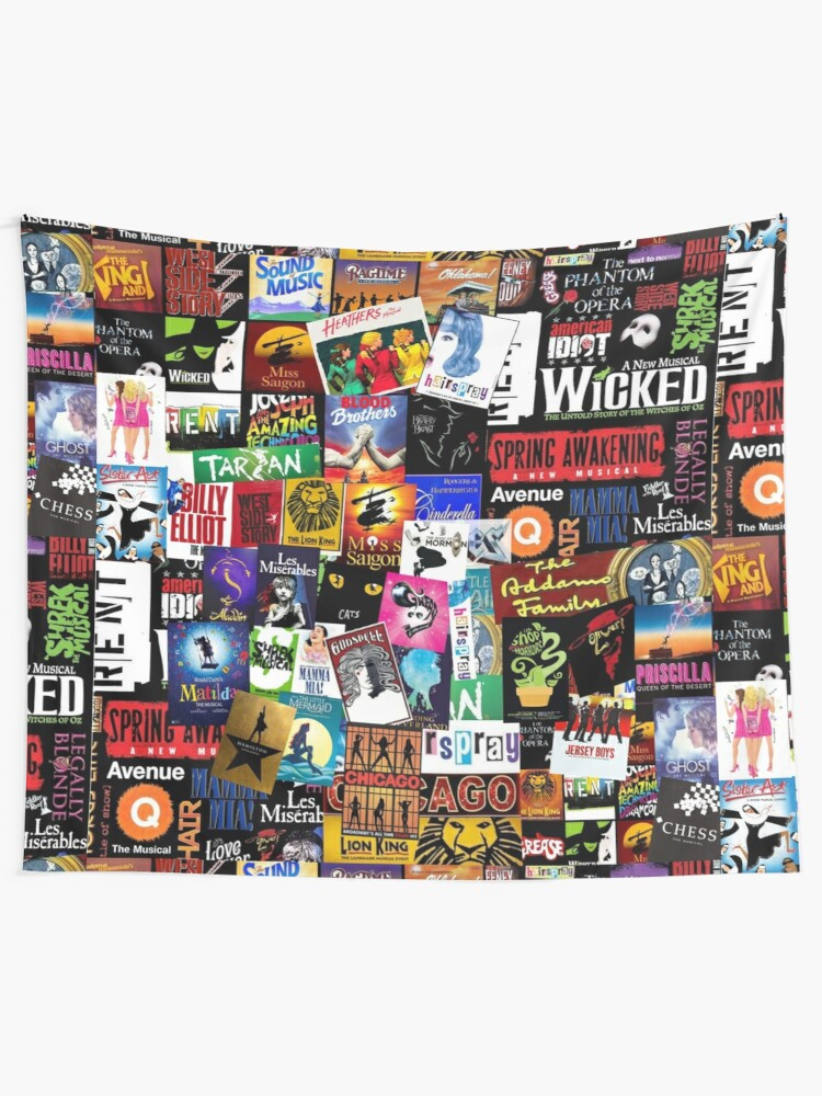 Alternate view of Musicals Collage II Wall Tapestry