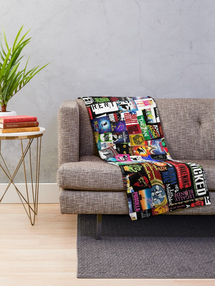 Alternate view of Musicals Collage II Throw Blanket
