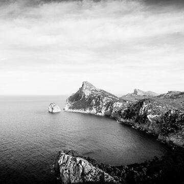 Formentor Cape Panorama BW – Mallorca / Majorca by lesslinear