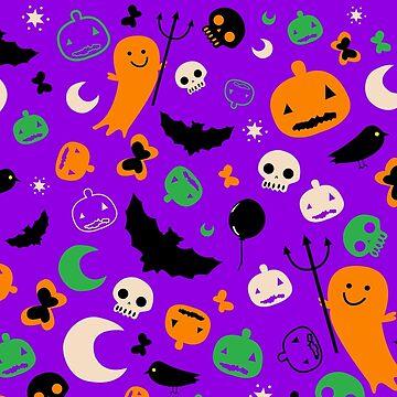 Cute Hand Drawn Halloween Pattern by tato69