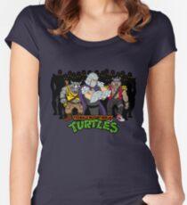 TMNT - Foot Soldiers with Shredder, Bebop & Rocksteady - Teenage Mutant Ninja Turtles Women's Fitted Scoop T-Shirt