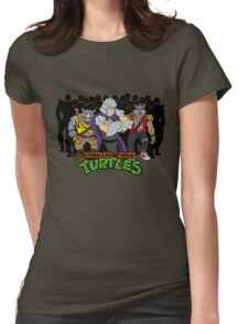 TMNT - Foot Soldiers with Shredder, Bebop & Rocksteady - Teenage Mutant Ninja Turtles Womens Fitted T-Shirt