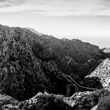 Coll dels Reis Panorama BW – Mallorca / Majorca by lesslinear