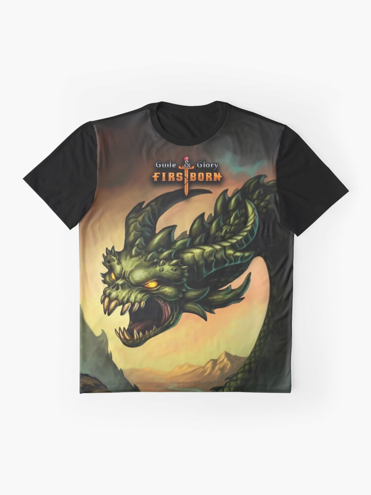 Alternate view of Guile & Glory: Firstborn - Wyrm (with title) Graphic T-Shirt
