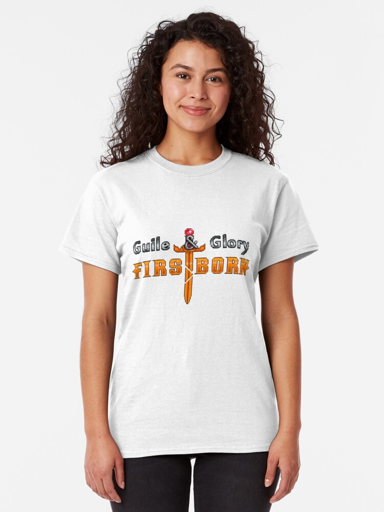Alternate view of Guile & Glory: Firstborn Logo Classic T-Shirt