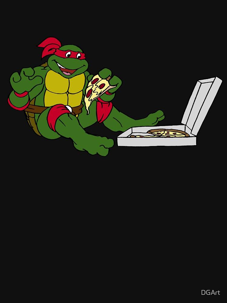 TMNT - Raphael mit Pizza von DGArt