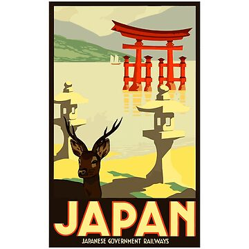Japan - Vintage Japanese Government Railways Poster Design by Chunga