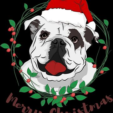 Bulldog Christmas by NovaPaint