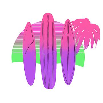 Lou's Surf Boards Neon by looeez