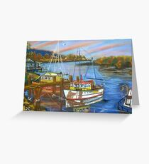 Dawn over Camden Haven. Greeting Card