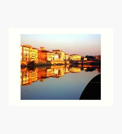 Perfect Pisa Reflection Art Print