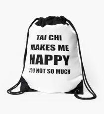 Tai Chi Lover Fan Funny Gift Idea Hobby Drawstring Bag