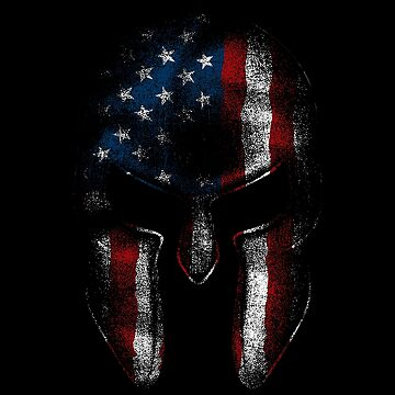 Spartan Warrior American Flag USA 'Merica Sparta Pride  by thespottydogg